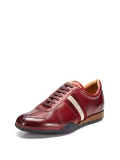Leather Sneakers by Bally at Gilt - Prada Sneakers - Ideas of Prada Sneakers - - Leather Sneakers by Bally at Gilt Comfortable Sneakers, Casual Sneakers, Casual Shoes, Mens Designer Shoes, Designer Clothes For Men, Prada Sneakers, Leather Sneakers, Sock Shoes, Men's Shoes