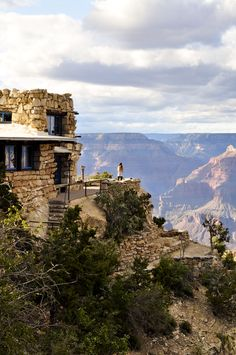 """""""Lookout Studio"""" — Rock, mineral & souvenir shop, South Rim, Grand Canyon Nat'l. Park (located right behind the Bright Angel Lodge). → For more, please visit me at: www.facebook.com/jolly.ollie.77"""