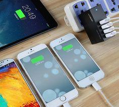 Smart High Capacity 4 Port USB Wall Charger   CoolShitiBuy.com
