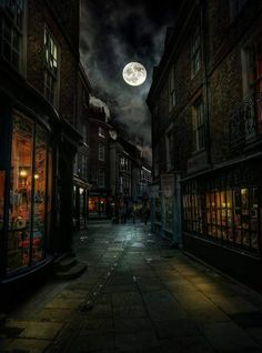 Home Discover Great atmospheric shot of Minster Gates looking toward Stonegate. Pic courtesy of York England Mark Hall Fantasy Places Fantasy World Dark Fantasy Fantasy Art Fantasy Castle Beautiful Moon Beautiful Places Stars Night Mark Hall Slytherin Aesthetic, Harry Potter Aesthetic, York England, York Uk, Fantasy Places, Fantasy World, Harry Potter Pictures, Harry Potter Wallpaper, Fantasy Landscape