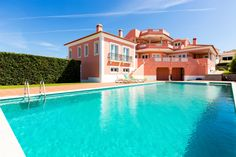 Casa Escarlate, Peniche, Portugal. Not your ordinary resort villa. Vast inside and out with delightful Portuguese touches. A 'proper' swimming pool and roof terrace to watch the stunning sunsets.