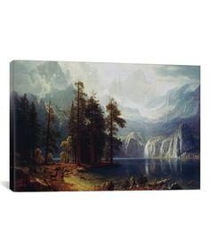 This Albert Bierstadt Sierra Nevada in California Wrapped Canvas is perfect! #zulilyfinds