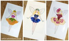 Flower Fairy Outfits by Artful Kid, via Flickr