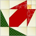 "Flower Bud 12"" quilt block pattern"