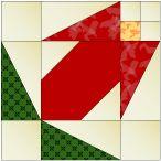 """Flower Bud 12"""" quilt block pattern"""