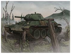 T-34 by jimmymcwicked.deviantart.com on @DeviantArt