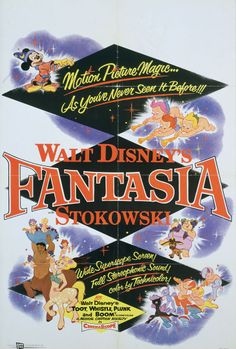 Fantasia (1940) [1956 re-release poster].