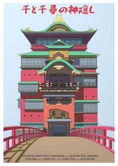 Spirited Away Studio Ghibli Alternative Movie Poster Spirited Away Art, Spirited Away Poster, Spirited Away Wallpaper, Magical Bedroom, Studio Ghibli Movies, Minecraft Architecture, Chef D Oeuvre, Alternative Movie Posters, Hayao Miyazaki