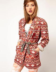Maison Scotch Tribal Blazer with Roll Up Sleeves