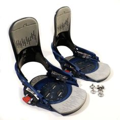Mens-Size-S-M-BURTON-SI-Step-in-Bindings-w-Base-Plates-Hardware-Fits-Sz-7-9