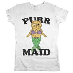 Purr Maid Womens Tee White