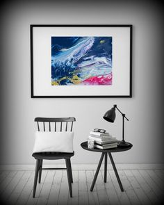 Abstract Painting Print Abstract Art Blue Print by LDawningScott