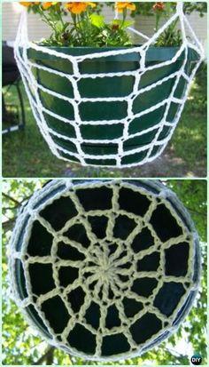Crochet Hanging Planter Pot Cozy Free Pattern - Crochet Plant Pot Cozy Free Patterns