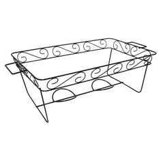 Party Essentials N1217 Elegance Full Size Chafing Rack, 7-3/8' Height x 12-7/8' Width x 11-7/8' Length, Black (Case of 12) ** Insider's special review you can't miss. Read more  : Specialty Cookware