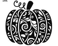 Silhouette Cameo Projects, Silhouette Design, Pumpkin Tattoo, Pumpkin Outline, Fall Projects, Craft Projects, Cute Pumpkin, Cricut Creations, Pumpkin Decorating