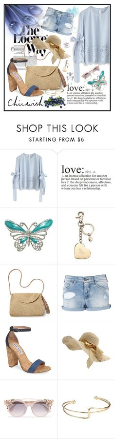"""Chicwish contest"" by edin-levic ❤ liked on Polyvore featuring Loewe, Chicwish, WALL, Aspinal of London, Mar y Sol, Armani Jeans, Valentino, Steve Madden, Jimmy Choo and Avon"