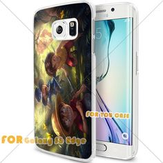 New OnePiece Anime Cartoon Manga Cell Phone1 S6 Edge Case, For-You-Case Samsung S6 Edge White Silicone Case Cover NEW fashionable Unique Design