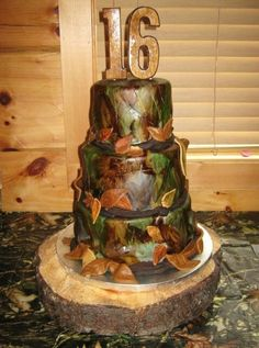 Hunting camouflage cake