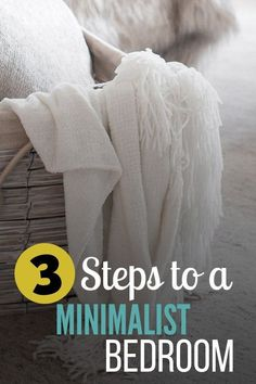Learn the 3 steps to creating and maintaining a beautiful, simple, minimalist bedroom! Neutral Bedroom Decor, Bedroom Decor On A Budget, Gray Bedroom, Bedroom Small, Bedroom Ideas, Minimalist Bedroom Boho, Minimalist Living, Minimalist Decor, Country Bedroom Design