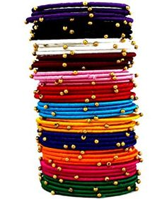 Naksh Multicolor Silk Thread Bangle Set For Women