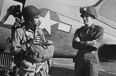 Robert Capa before leaving to parachute into Germany with American forces. March 1945