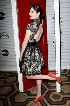 Kristen Ritter,with a beautiful dress