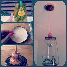 Zelfgemaakte hanglamp