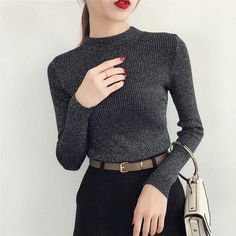 Fashion sweaters for women autumn winter Autumn Winter Sweater Women Long Sleeve Pullover Women Basic Sweaters Women 2019 Korean Style. #fashion #sweaters #autumn #winter #long #sleeve #basic #pullover