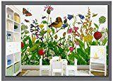 Lqwx Custom 3D Photo Wallpaper 3D Wall Murals Wallpaper Fashion Hand-Drawn Cartoon Flower Children Room Background Wall Decoration 250Cmx175Cm