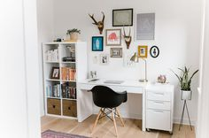 GWS Home Tour - Mid-Century Modern + Boho-Inspired // office space