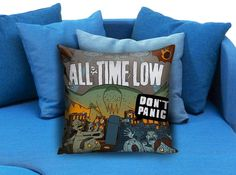 All Time Low Dont Panic All Time Low To Live And Let Go Lyrics These soft pillowcase made of 50% cotton, 50% polyester.  It would be perfect to decorate your home by using our super soft pillow cases on sofa, chair, bench or bed.  Customizable pillow case is both comfortable and durable, improving the quality of your sleep with these comfortable pillow case, take it home now!  Custom Zippered Pillow Cases available in 7 different size (16″x16″, 18″x18″, 20″x20″, 16″x24″, 20″x26″, 20″x30″…