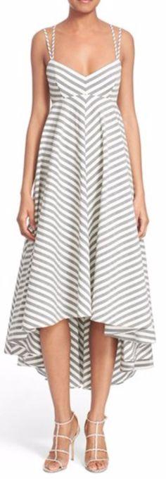 Strappy stripe maxi dress