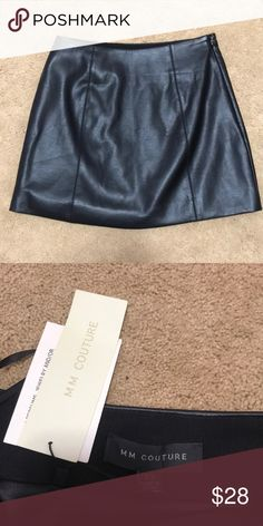 Black leather skirt Never been worn. New with tags. MM Couture Skirts Mini