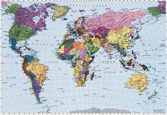 Mapamundi para niños, físico, político, para colorear e imprimir | Todo imágenes
