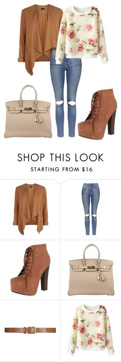 """"""":)"""" by sejla-imamovic ❤ liked on Polyvore featuring Topshop, Breckelle's and Hermès"""