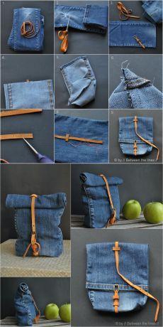 Ingenioso bolso reciclando un pantalón vaquero - Muy Ingenioso