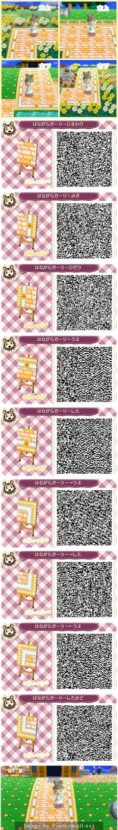 Yellow path QR codes