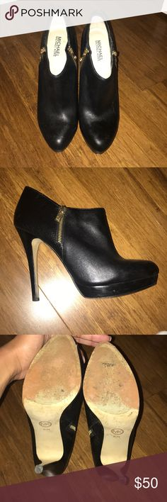 MICHAEL by Michael Kors York booties Gently used Mk York booties. Great condition. Perfect for the holidays MICHAEL Michael Kors Shoes Ankle Boots & Booties
