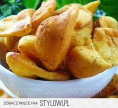 Nachosy - mąka kukurydziana – 1 szklanka - mąka pszenn… na Stylowi.pl Nom Nom, Lunch Box, Food And Drink, Appetizers, Potatoes, Bread, Vegetables, Cooking, Cake