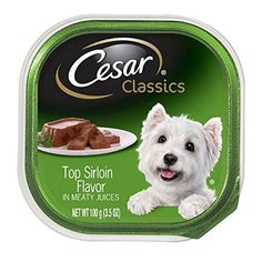 Cesar Classics Top Sirloin Flavor In Meaty Juices 350 oz  Pack of 24 ** Check out this great product.-It is an affiliate link to Amazon. #DogFoods