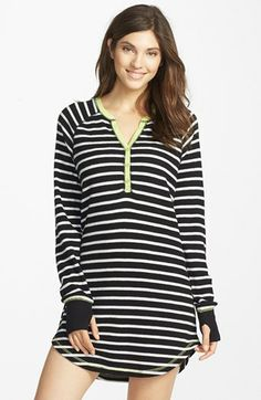 Just found this at Nordstrom Rack for $15!  PJ Salvage Brushed Thermal Sleep Shirt available at #Nordstrom