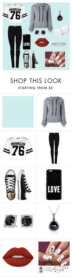 """""""Casual"""" by laurenthomson29 ❤ liked on Polyvore featuring Unravel, Boohoo, Converse, Givenchy, David Yurman, Kobelli and Lime Crime"""
