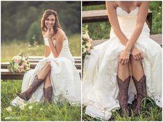bride wearing cowgirl boots #wedding #bridal  http://www.jophotoonline.com