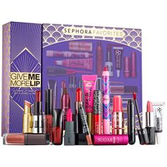 Give Me More Lip - Sephora Favorites | Sephora - I'm a lip product junkie. For any lip product junkie, a gift set like this = HEAVEN. <3 $59