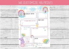 Printable cute bears and rainbow first birthday time capsule. Capture memories your little one will treasure for years to come with our printable first birthday time capsule. We customize the name, age and questions, you print! #firstbirthdayparty #1stbirthdayparty #firstbirthdaytimecapsule #birthdaytimecapsule #girlfirstbirthday #rainbowfirstbirthay #carebearbirthday #girlbirthdayideas Rainbow First Birthday, Girl First Birthday, First Birthday Parties, First Birthdays, Kids Birthday Party Invitations, Birthday Party Themes, Care Bear Birthday, Bridal Shower Rustic, Party Activities