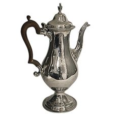 Georgian Silver Coffee Pot, London 1783, Hester Bateman.
