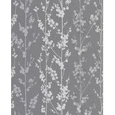 Not the right colour, but I like the idea. Found it at Wayfair - Majestic Berries Wallpaper