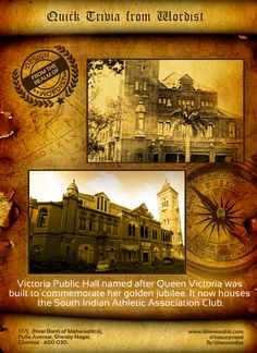 Victoria Public Hall, or the Town Hall, is a historical building in Chennai. #besurprised #Historytoday #Chennai #Madras #History #VictoriaPublicHall