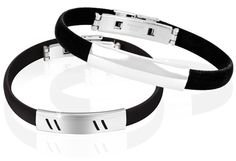 8/22/2012 Pick Your Price Jewelry Collection  $4.00  + FREE SHIPPING Stainless Steel & Black Silicone Men's Bracelet - Choice of 2 Styles