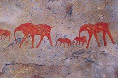 Matjiesrivier Nature Reserve in Cederberg, Western Cape. The beautiful Matjiesrivier Nature Reserve lies on the eastern edge of the Cederberg . Ancient Art, Ancient History, Cave Painting, Art Ancien, Fresco, Art Premier, Ecole Art, Indigenous Art, Tempera